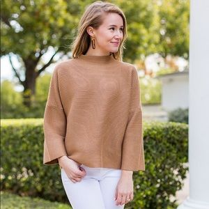 The Impeccable Pig camel rubbed mockneck sweater
